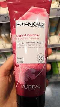 L'ORÉAL PARIS - Botanicals fresh care - Rose & geranie farbglanz spülung
