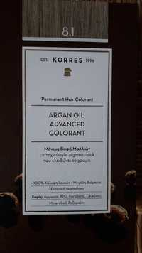 KORRES - Permanent hair colorant - Argan oil advanced colorant