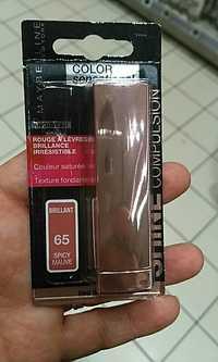 Maybelline New York - Color sensational - Rouge à lèvres brillant 65 spicy mauve