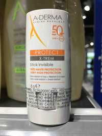 A-DERMA - Protect x-trem - Stick invisible très haute protection SPF 50