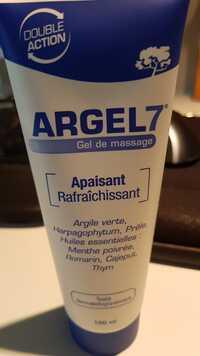 Argel 7 - Apaisant rafraîchissant - Gel de massage