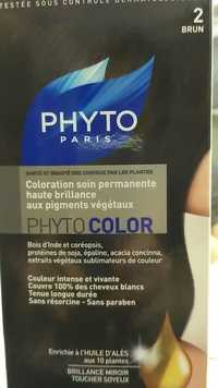 Phyto - Phytocolor - Coloration soin permanente haute brillance 2 Brun