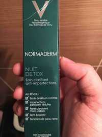 VICHY - Normaderm nuit detox - Soin clarifiant anti-imperfections
