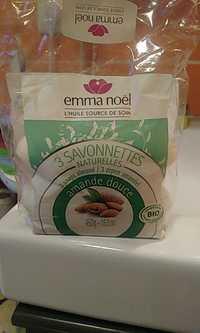 EMMA NOËL - Amande douce - 3 savonnettes naturelles