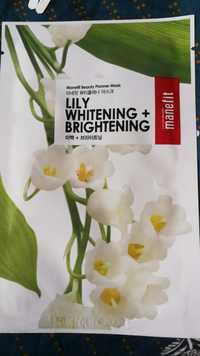 MANEFIT - Beauty planner - Lily whitening + brightening mask