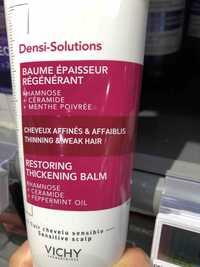 VICHY - Densi-Solution - Baume épaisseur régénérant