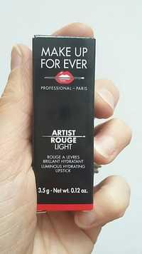 Make up for ever - Artist rouge light - Rouge à lèvres brillant hydratant