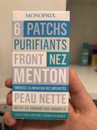 Monoprix - 6 patchs purifiants