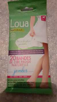 Loua Naturals - Bandes de cire froide naturelle jambes