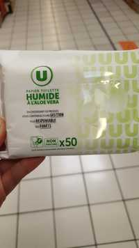 BY U - Papier toilette humide à l'aloe vera