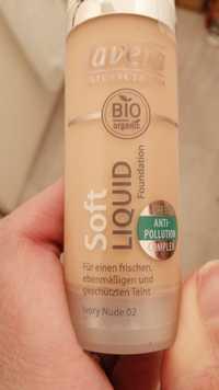 LAVERA - Soft liquid foundation ivory nude 02