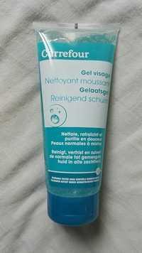 Carrefour - Gel visage nettoyant moussant