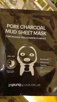 CAOLION - JJ Young - Pore masque-tissu charbon à l'argile