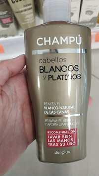 DELIPLUS - Champú cabellos blancos y platinos