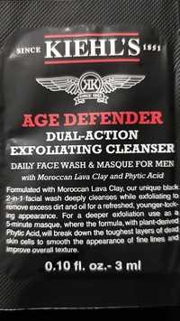 Kiehl's - Age defender - Dual action exfoliating cleanser for men