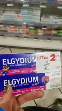 ELGYDIUM - Gel dentifrice kids 3/6 ans arôme grenadine
