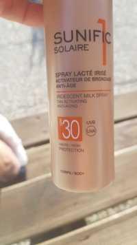 LIÉRAC - Sunific1 solaire - Spray lacté irisé SPF 30 haute protection