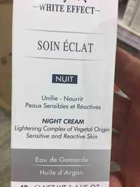 GAMARDE - White effect - Soin éclat - Night cream