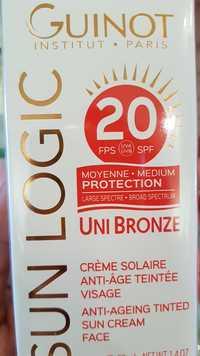 Guinot - Sun logic - Crème solaire anti-âge teintée FPS 20