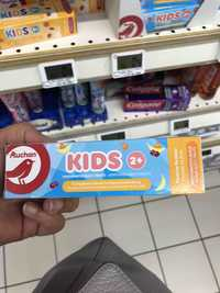 AUCHAN - Kids 2+ - Dentifrice multi fruits