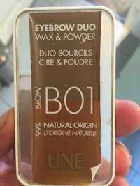UNE NATURAL BEAUTY - Duo sourcils cire & poudre B01 Brow