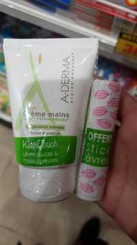 A-DERMA - Kiss & touch - Crème mains et stick lèvres
