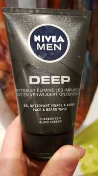 NIVEA - Men Deep - Gel nettoyant visage & barbe