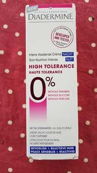 DIADERMINE - Haute tolérance - Soin nutrition intense nuit