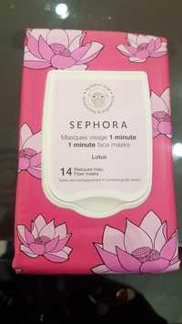 SEPHORA - Lotus - 1 minute face masks