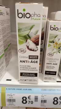 Biopha Nature - Crème nuit anti-âge bio