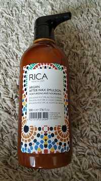 Rica - Argan after wax emulsion - Moisturizing and nourishing