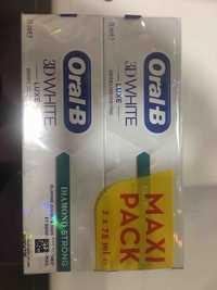 ORAL-B - 3D white luxe - Dentifrice doux pour l'émail