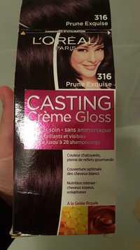 L'Oréal - Casting crème gloss - Couleur soin à la gelée royale 316 prune exquise