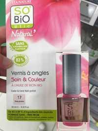 So'Bio étic - Natural' - Vernis à ongles soin & couleur 17 rose pivoine