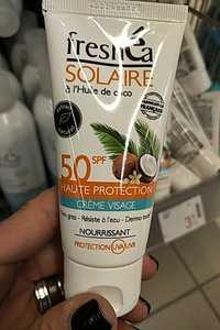 Freshéa - Solaire - Crème visage à l'huile de coco SPF 50