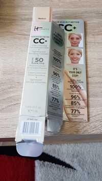 IT COSMETICS - CC+ - Crème correctrice haute couvrance + Hydratant et anti-âge anti-cernes SPF 50