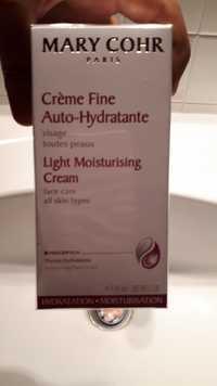 MARY COHR - Crème fine auto-hydratante visage