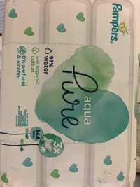PAMPERS - Aqua pure - Lingettes bébé