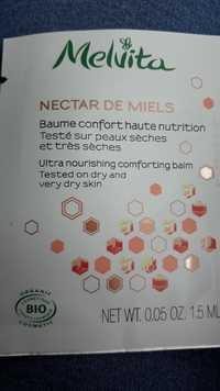 Melvita - Nectar de miels - Baume confort haute nutrition