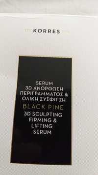 Korres - Black pine - 3D sculpting firming & lifting serum