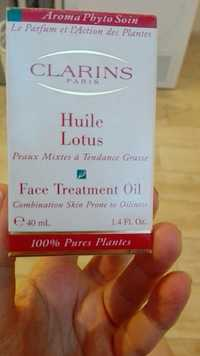 Clarins - Huile lotus - Face treatment oil