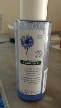 KLORANE - Bleuet - Eau micellaire démaquillant 3 en 1