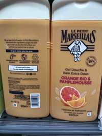 LE PETIT MARSEILLAIS - Orange bio & Pamplemousse - Gel douche & bain extra doux