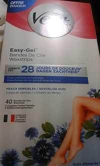 Veet - Easy-gel - Bandes de cire corps et jambes