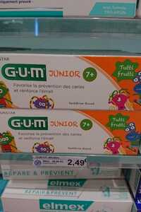 G.U.M - Junior 7+ - Dentifrice fluoré