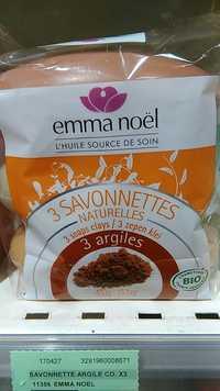 EMMA NOËL - 3 argiles - 3 savonnettes naturelles