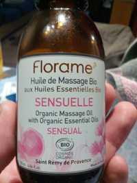 FLORAME - Sensuelle - Huile de massage bio