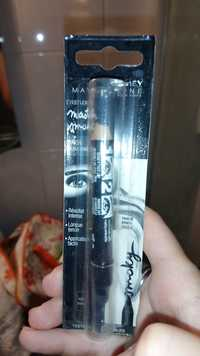 Maybelline - Master smoky - Crayon double embout noir