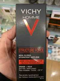 VICHY - Homme Structure force - Soin global hydratant anti-âge