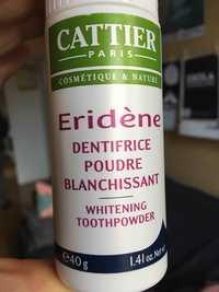 Cattier - Eridène - Dentifrice poudre blanchissant